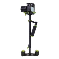 YELANGU S60T 38.5-61cm Carbon Fibre Handheld Stabilizer Steadicam for DSLR & DV Digital Video & Cameras, (Green)