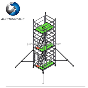 Scaffolding With Stairs And Guardrails Adjustable Height Types Of Scaffolding System
