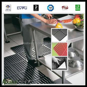 Restaurant Kitchen Rubber Mats restaurant kitchen floor non-slip and drainage rubber mats with