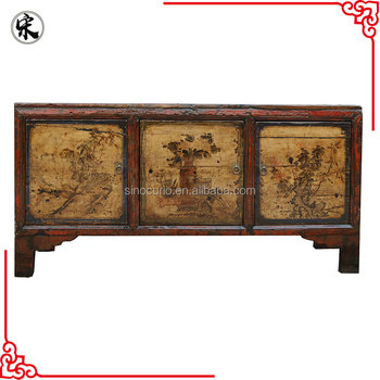 Chinese antique lacquered sideboard vintage painted for Chinese furniture retailers