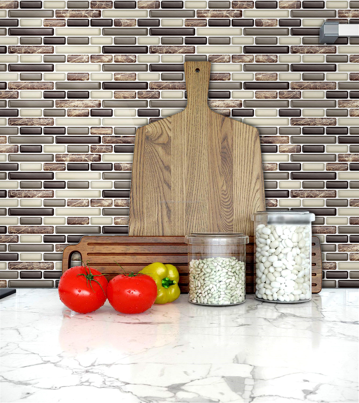 Wand Papier Mit Kristallen/3d Wallpaper Für Wände Braun Streifen Form