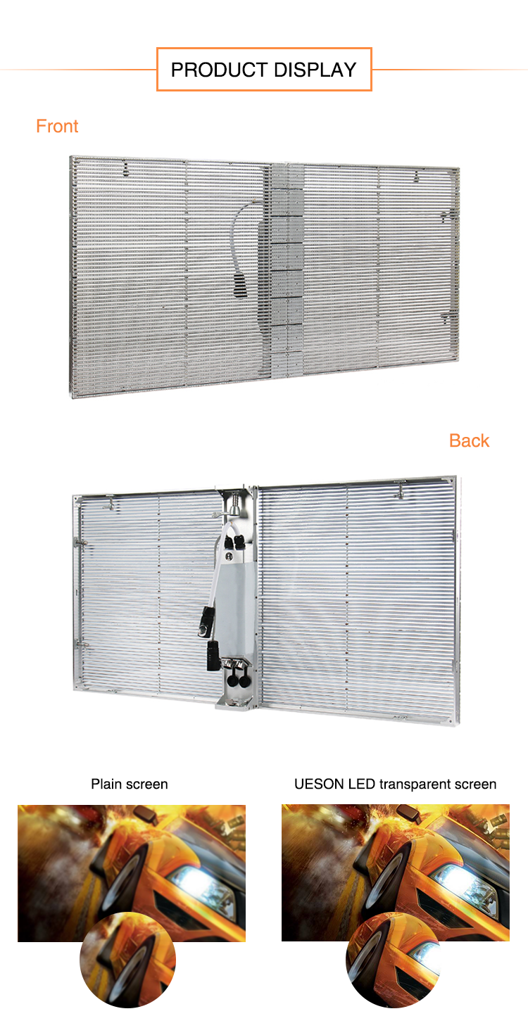 Aangepaste Outdoor Gordijn Transparant Scherm Outdoor Scherm LED Wall