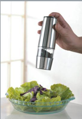 Electric stainless steel with Battery of salt and pepper mill