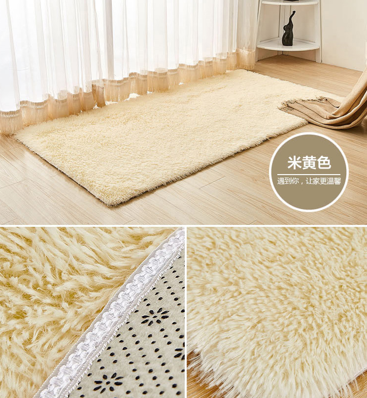 Beautiful red home decoration Shaggy carpet long haired mat
