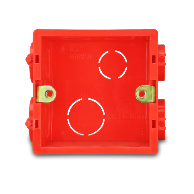 Factory Price (High) 저 (Quality 벽 Switch PVC electrical junction box socket 벽 상자 red color 86 style