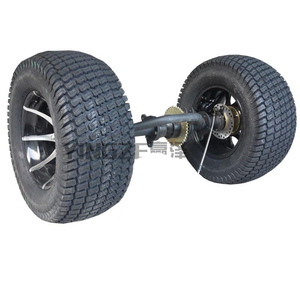 DIY Four Wheel GO KART KARTING ATV UTV Buggy Transmission 81CM Rear Axle Differential With 12 Inch Wheel Rim
