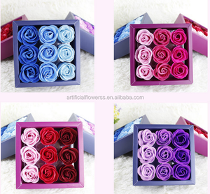 Romantic artificial flower gift Rose Soap flower