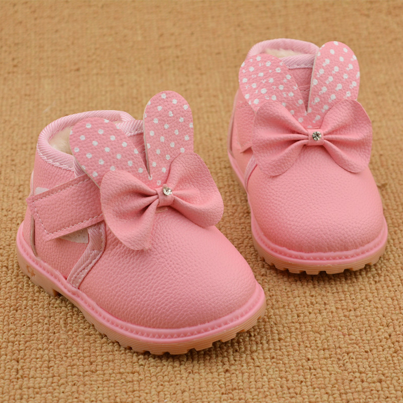 Baby Girl Shoes Children Footwear Snowshoes Baby Mocassins Boots Cute Bow Chaussure Enfant Children Shoes for