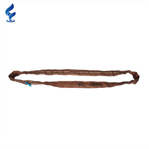100% Heavy Duty Customized Pipe Lifting Soft Polyester Round Slings 5Ton