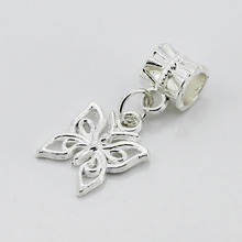Free Shipping European Silver Butterfly Beads Alloy Bead Charm Fit Women DIY Charms Fit Pandora Bracelets & Bangles Jewelry B19