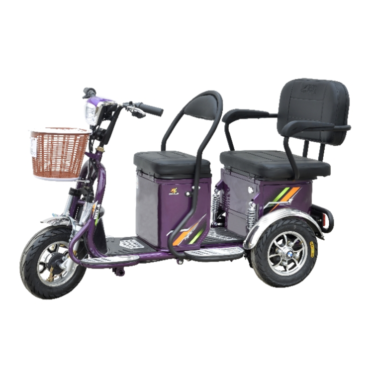 hot sale stable and safe 500w electric tricycle for handicapped with passenger seat