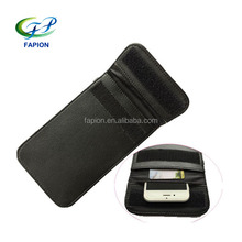 pu leather faraday cage cell phone bag
