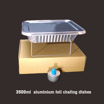 Disposable aluminium foil chafing dishes buffet catering trays with lid and rack stand