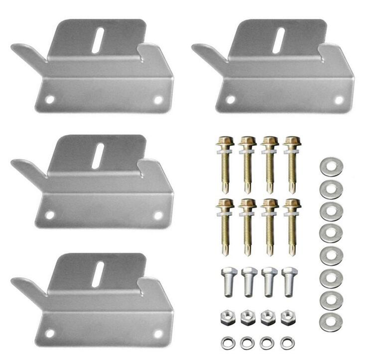 OEM Anodized Aluminum Alloy Z Bracket Mount Tool Kit Set for adjustable Solar Mounting Bracket System