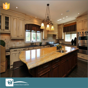 2016 European Style Solid Wood Kitchen Cabinets With Precut Granite Countertops Made In China