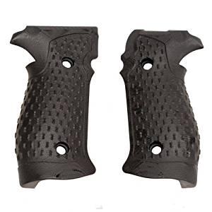 Hogue Sig P226 Grips, DA/SA Magrip, Chain Link G-10, Solid Black