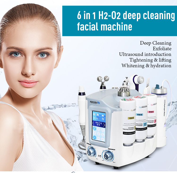 New Korea Aquasure H2 hydra dermabrasion machine blackhead remover vacuum acne treatment aqua peel hydrogen beauty machine