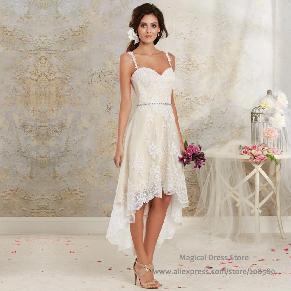 Summer Vintage Wedding Dresses: Aliexpress.com : Buy Bohemian High Low Short Wedding Dress