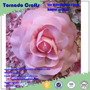 Artificial Paper Flower Giant Paper Flowers Backdrop Artificial Paper Flower Wedding Decor Buy Paper Flowers Wedding Wall Decorations Wedding