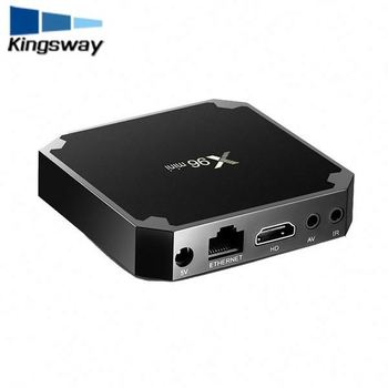 Más caliente x96 mini amlogic s905w Android TV box con USB 3.0 1/2 GB RAM 8 GB ROM Android TV de Doble sintonizador