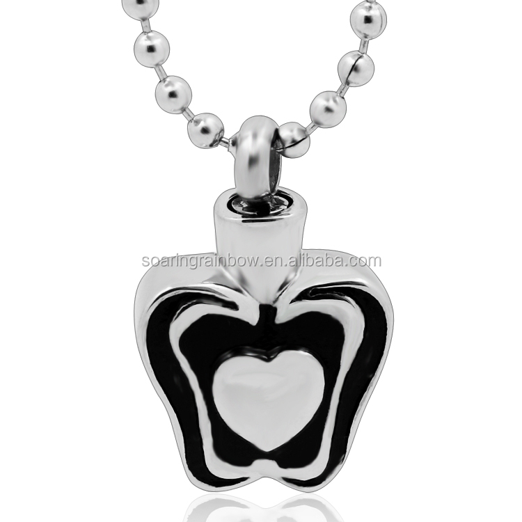 2017 New cremation pendant necklace for ashes heart butterfly pet ashes jewelry