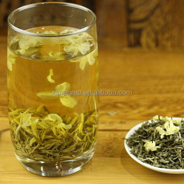 Top quality organic chinese jasmine scented green tea