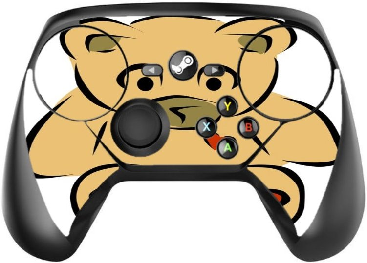 Vinyl Decal Printed Design Teddy Bear with Hearts Steam Controller Vinyl Decal Sticker Skin by Smarter Designs