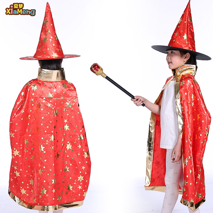 Hot verkoop cosplay cape aanpassen halloween party vampire cape en masker voor kinderen