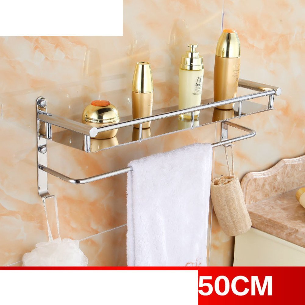 Supersail Bath Towel Rack Bathroom Shelves with Wall Mounted Towel ...