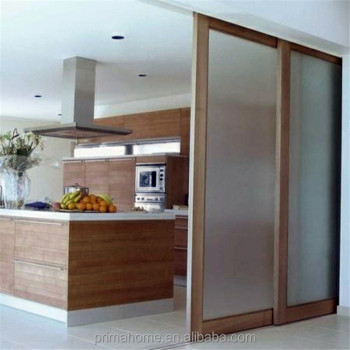Wooden Frame Frosted Glass Room Divider Partitions For House Buy
