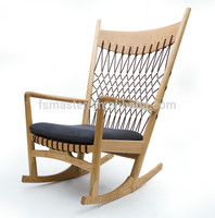 Famous designer danish style wooden rocking chair