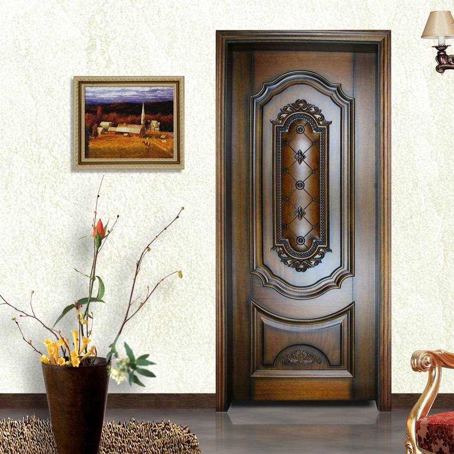 Puertas de interiores de madera elegant puerta interior for Puertas en madera para interiores