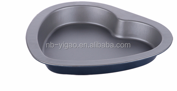 small heart shaped cake baking pan with food grade Xynflon non stick coating