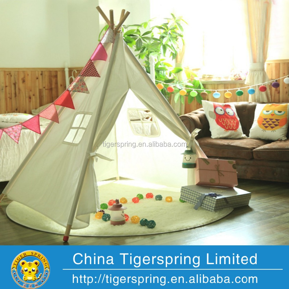 Beautiful canvas kids teepee tent