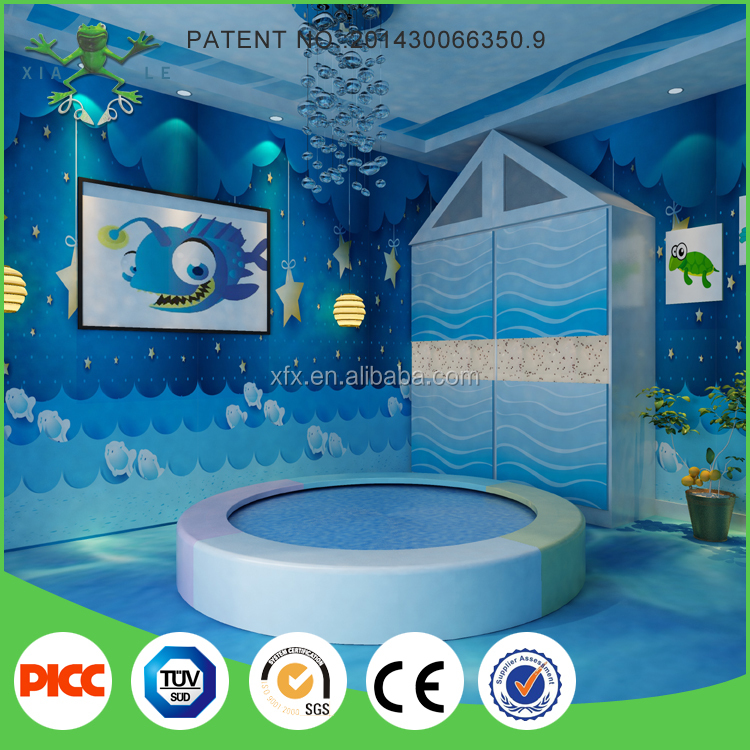 Round water bed indoor playground electric toy equipment for kids