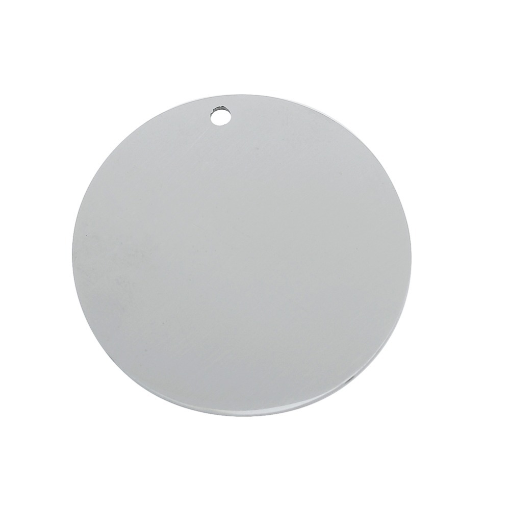 Fashion 10pcs a lot Stainless Steel Charms Pendant Disc Round Plate Charm DIY Jewelry for Necklaces
