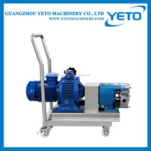 Industrial protable Stainless steel gear pump with wheels