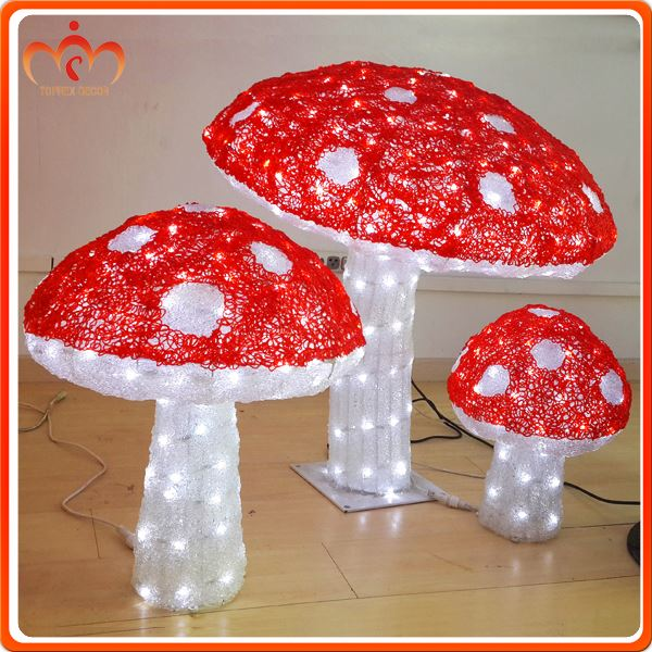 Large easter environmental PC material lighted mushroom