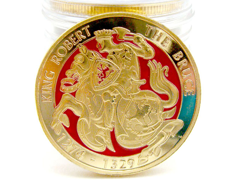 Gold plated sovereign coin bezels