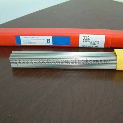 High quality free sample stainless steel welding rod chart /factory supply