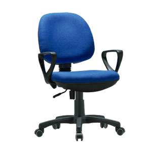 Cheap blue swivel simple staff mesh office chair with nylon foot H3118