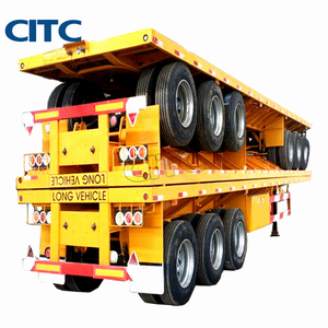 Shipping Container Transport Flat Bed Trailer 40 Ft Flatbed Container Semi Trailer Price In India