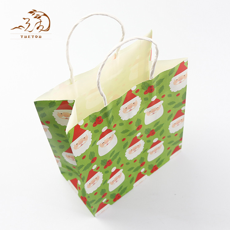 Custom Colorful Recyclable Craft Paper Gift Bag