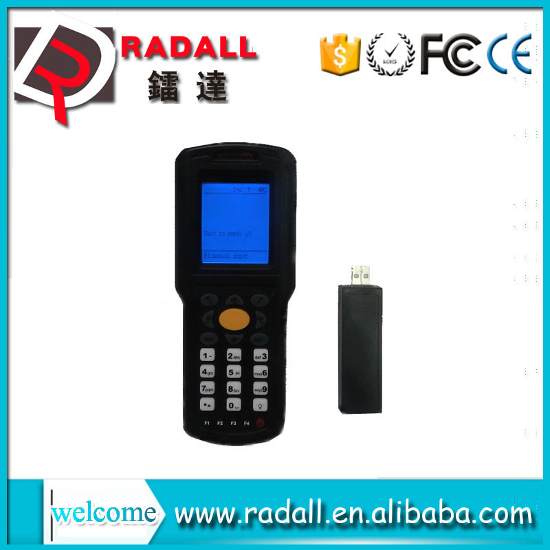 RD - 9800 wireless data collector thermal handheld laser code bar scanner upload data to excel with keyboard