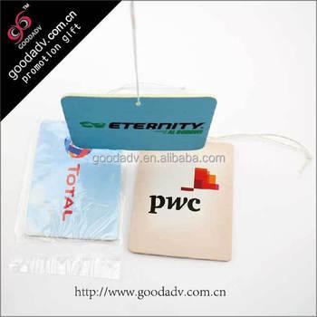 Impression Pendaison Voiture Papier Parfum Chine Fabricant