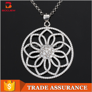Wholesale flower necklace pendent 925 sterling silver pendant from China