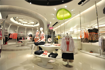 Cabinet Design For Clothes For Kids customized children's clothing store interior wooden display