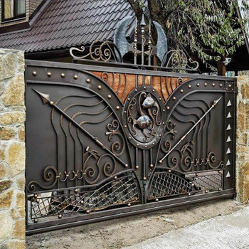 Alibaba Hot Sales House Iron Gate Design Steel Sliding