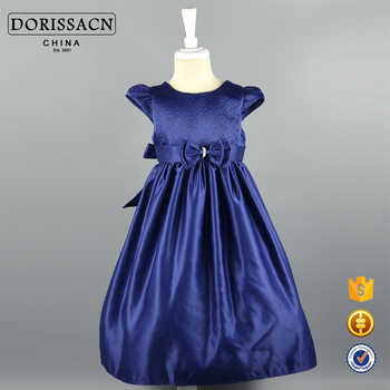 Neueste Blau Fancy Kinder Partei Tragen Kleider Für Mädchen Baby ...