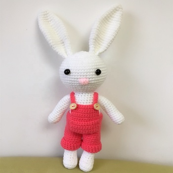 This listing is for one amigurumi crochet bunny rabbit in dress ... | 350x350